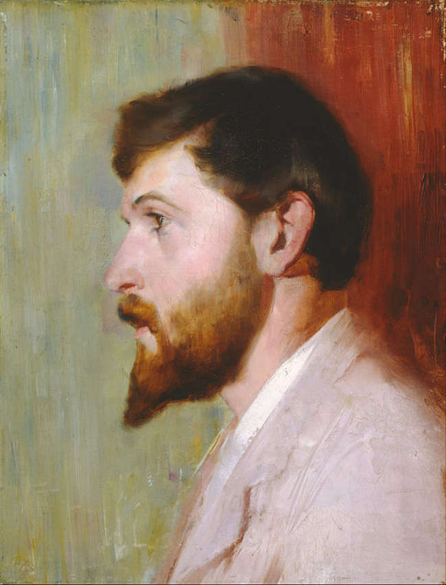 Arthur Streeton aged 24 painted by Tom Roberts