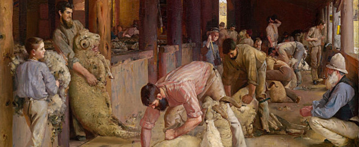 Tom Roberts  Shearing The Rams